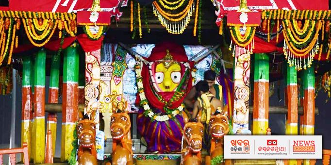 Devi Subhadra on Darpa Dalan chariot on Bahuda Yatra
