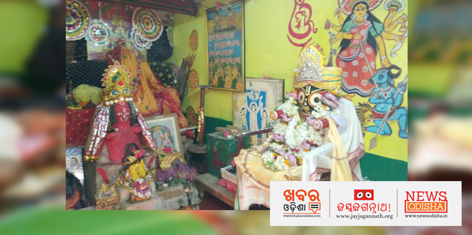 Lord Jagannath decked up to visit Mausi Ma temple at Junida in Jajpur