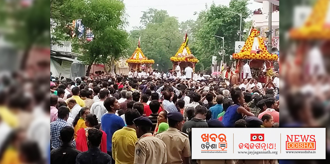 The deities reach Shree Gundicha Temple after a 18-km-long procession