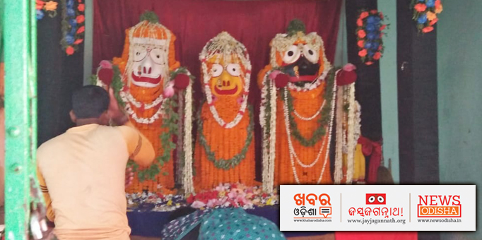 The Deities are decorated with colorful flowers at their birth place