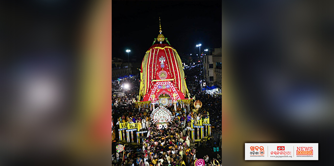 Lord Jagannath is leaving for sanctum sanctorum