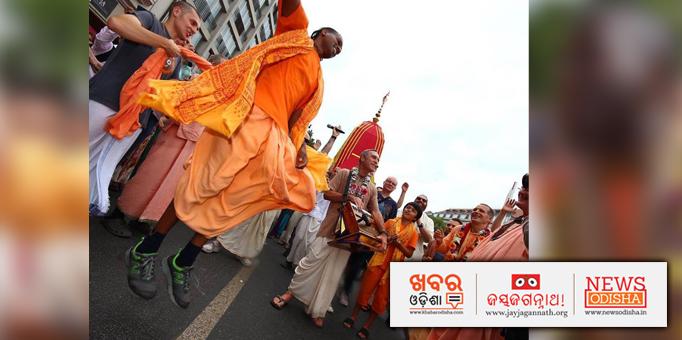 Sankirtan programme on occasion of Rath Yatra in Berlin, Germany