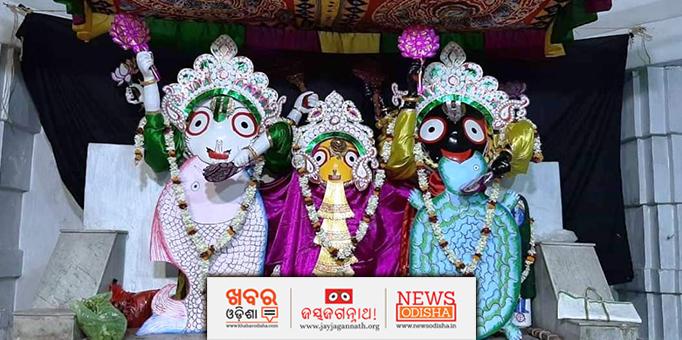 Lord Balabhadra and Lord Jagannath in Matsya-Kachhapa Besha.
