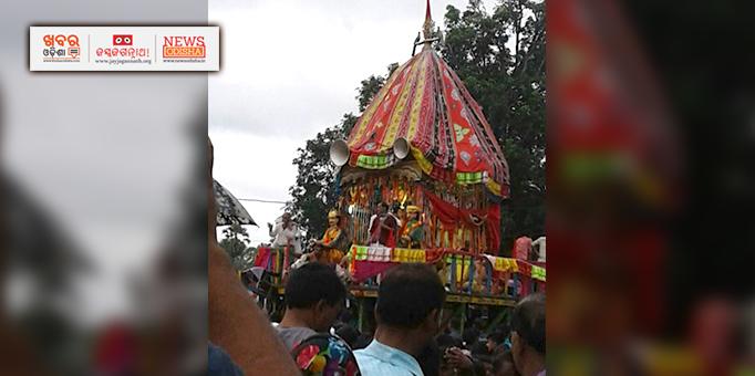 Holy trinity on their way to Mausi Ma Temple at Kalimela, Malkangiri