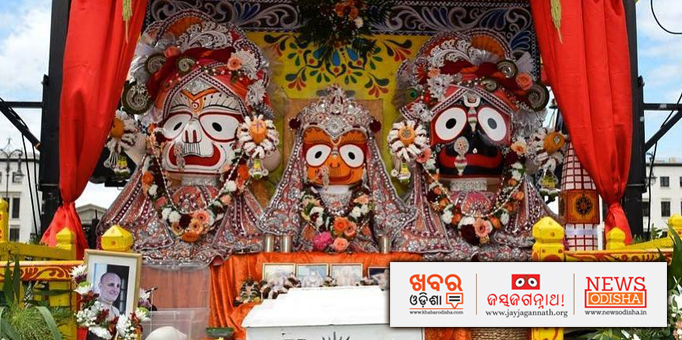 Lord Jagannath on the chariot at ISCKON temple in Berlin, Germany