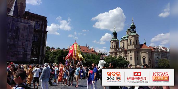 Rath Yatra organised ISCKON in Prague, Czech Republic