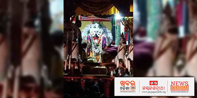 Lord Jagannath on his Nandighosha Chariot, picture from Koraput