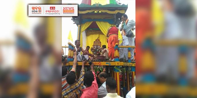 Lord Jagannath on his way to Mausi Ma Temple at Dharamgada, Kalahandi