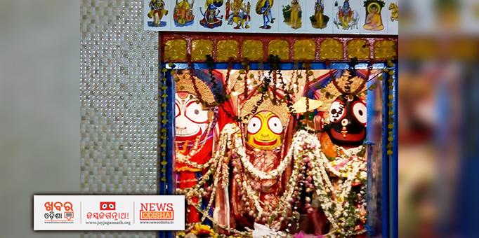 Holy trinity on Adap Mandap in Paralakhemundi in Gajapati