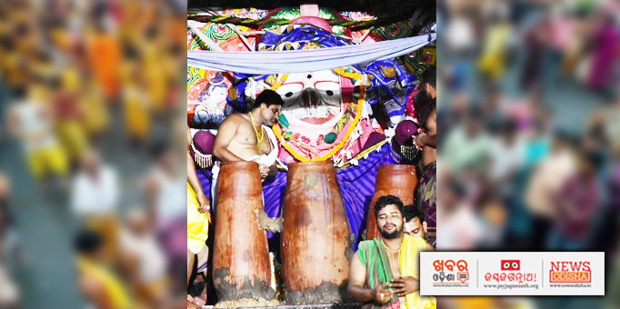 Adharapana offered to Lord Balabhadra in Puri