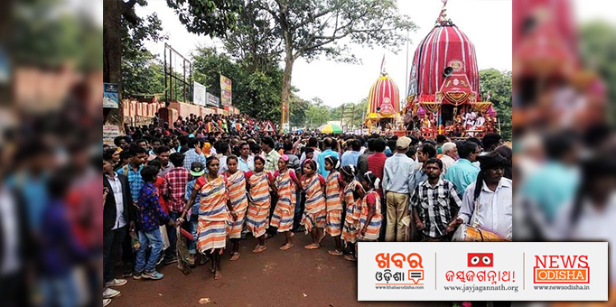 Tribal tradition of Odisha is effectively blended with the Jagannath cult, Tribes of Koraput eagerly participating in Ratha Yatra