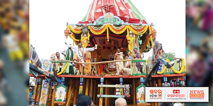 Lord Balabhadra on Chariot for Bahuda Yatra at Paralakhemundi in  Gajapati