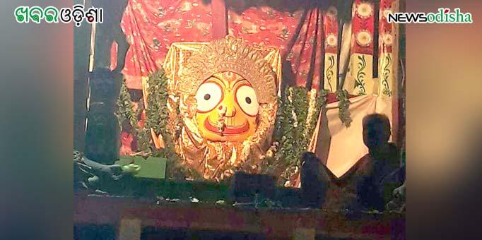 Devi Subhadra attired in Suna Besha at Paralakhemundi in Gajapati