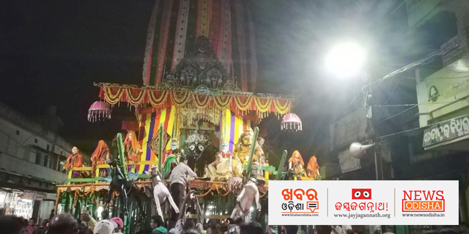 Lord Jagannath on Nadisgosh chariot in  Dhenkanal