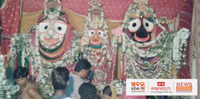 Holy trinity on Adapa Mandap at Athagarhpatna in Ganjam