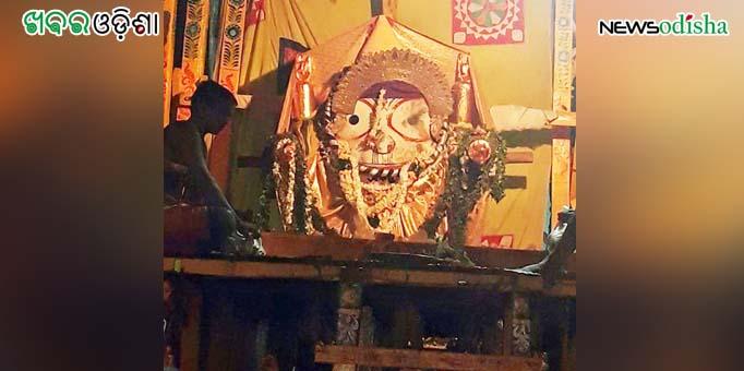 Lord Balabhadra decked in Suna Besha at Paralakhemundi in Gajapati
