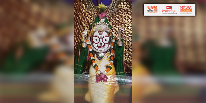 Khabar Odisha:Matsya-Fish-Avatar-of-Lord-Balabhadra-at-Patnagarh-Mausima-temple-in-Bolangir