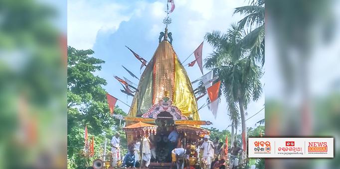 Lord Jagannath's  Nandigosh chariot at Kereragarh in Rajnagar, Kendrapara