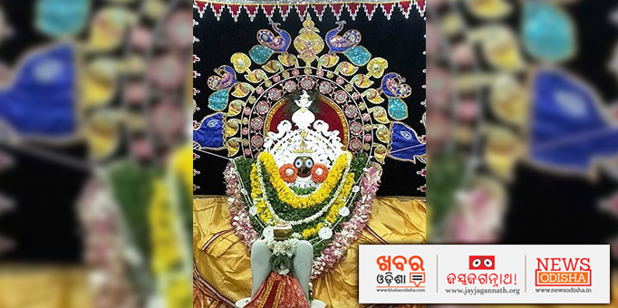 The 'Lord of the Universe' graces the Holy Shrine in a temple at Bhatli, Baragarh