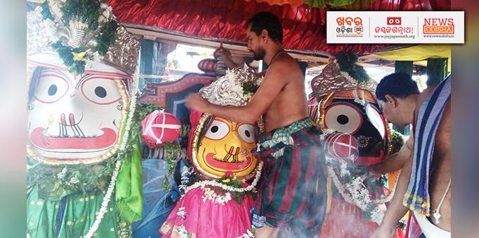 Golden attire (Suna Besha) of Lord Jagannath in Phulbani