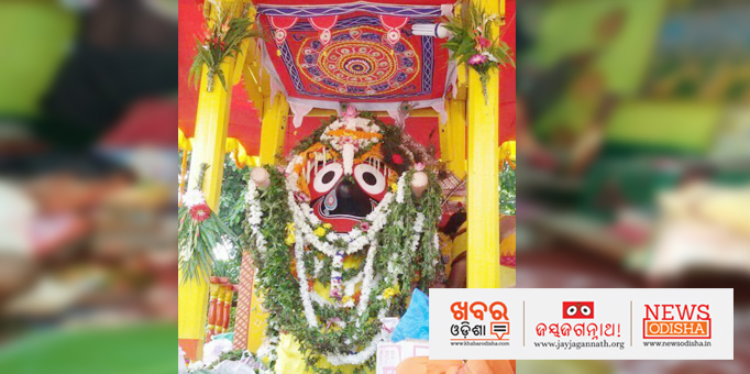 Lord Jagannath on the chariot in Rourkela