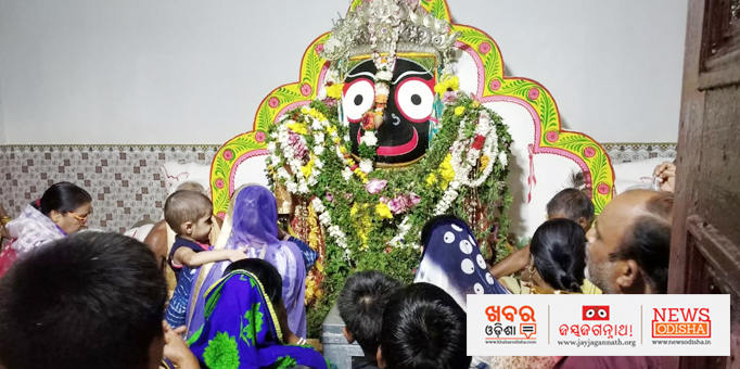 Lord Jagannath on Adap Mandap in Baji chowk, Dhenkanal