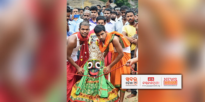 Phandi Bije ritual of Lord Jagannath for Bahuda Yatra in Bhandaripokhari, Bhadrak