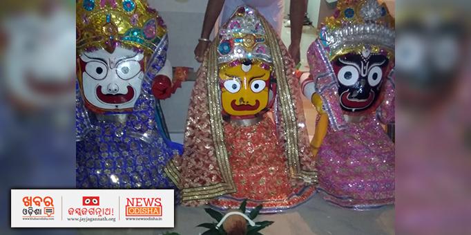 Lord Jagannath and his siblings ready to visit Gundicha temple at Jaipatna in Kalahandi district
