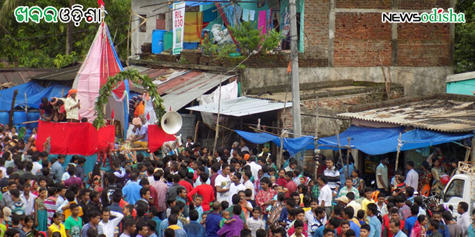 Devotees throng MV79 lanes during the Bahuda Yatra in Malkangiri