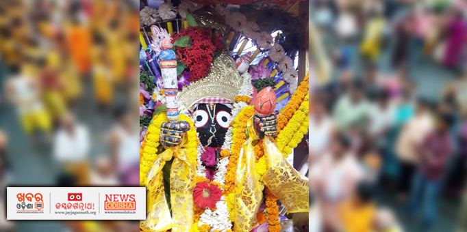 Lord Jagannath adorned with gold ornaments at Podapada in Boudh