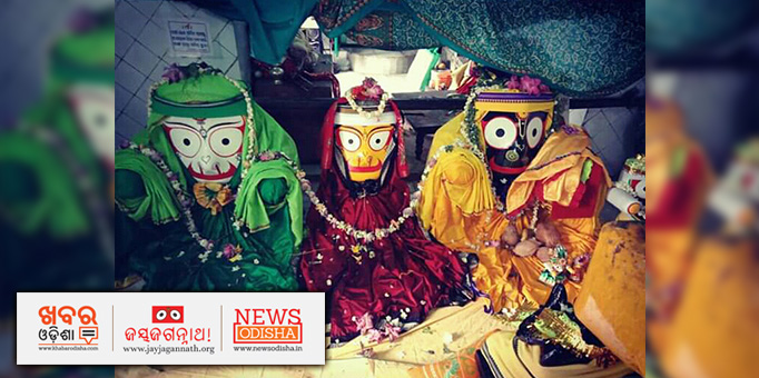 The triad deities of the famous Jagannath Temple in Boudh