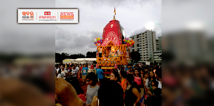 Hundreds of resident Odias devotees came together for the Rath Yatra at Singapore