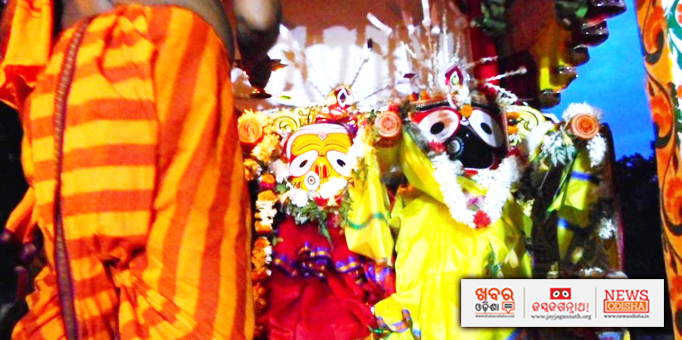 Jay Jagannath: Lord-Jagannath-on-his-chariot-for-Bahuda-Yatra-at-Sailasri-Vihar-in-Bhubaneswar