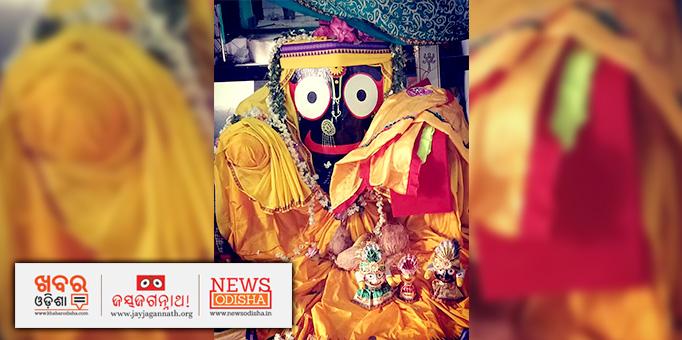 Lord Jagannath In traditional 'Patta Pitambari' for 'Naba Jaubana Besha Darshan'