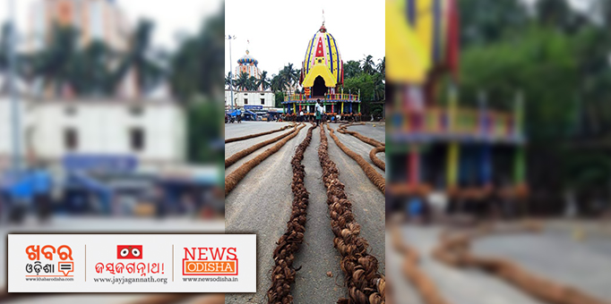These chariot ropes are believed to be a way of achieving 'Moksha' in Odia Mythology