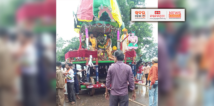 Lords on chariot at Mithili in Malkangiri
