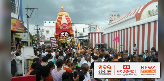 Crowd of devotees at Salem in Tamil Nadu for Rath Yatra