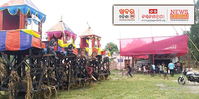 Devotees gathered at Balasore's Jagannath temple for Bahuda Yatra