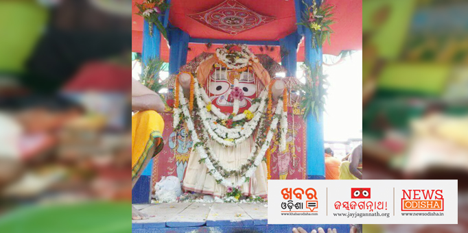 Lord Balabhadra travelling to Mausima temple in Rourkela